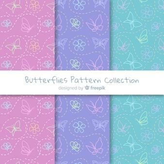 平らな蝶のパターン