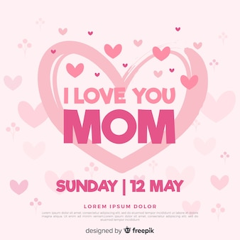 День матери фон сердца