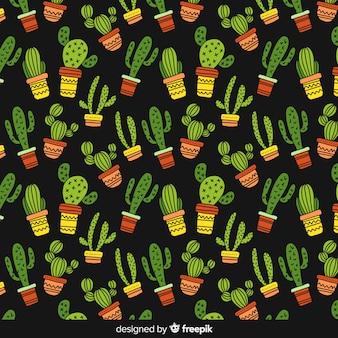 Ручной обращается рисунок кактуса