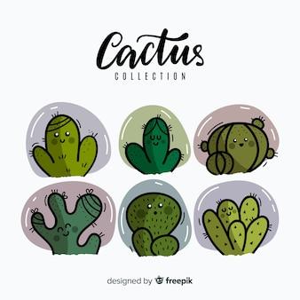 Ручной обращается фон кактус