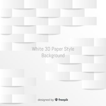 Белая трехмерная бумага стиль фона