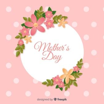 花のフレームの母の日の背景