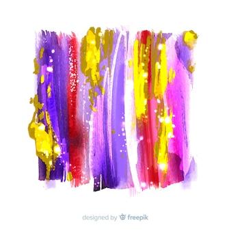キラキラの背景を持つ抽象的な水彩画の汚れ