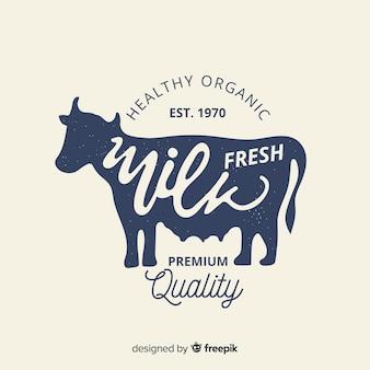 有機牛乳のロゴの背景