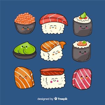 手描きかわいい寿司コレクション