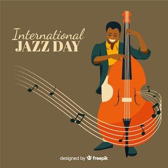 ビンテージの国際ジャズデーの背景