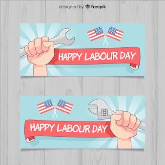 Знамена с днем труда