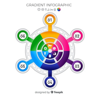 Плоский красочный фон инфографики