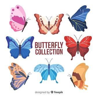 カラフルな蝶のコレクション
