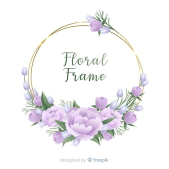 手描きの花のフレームの背景