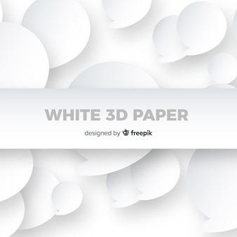 白い三次元紙スタイルの背景