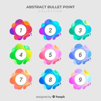 Абстрактное красочное собрание пункта пули