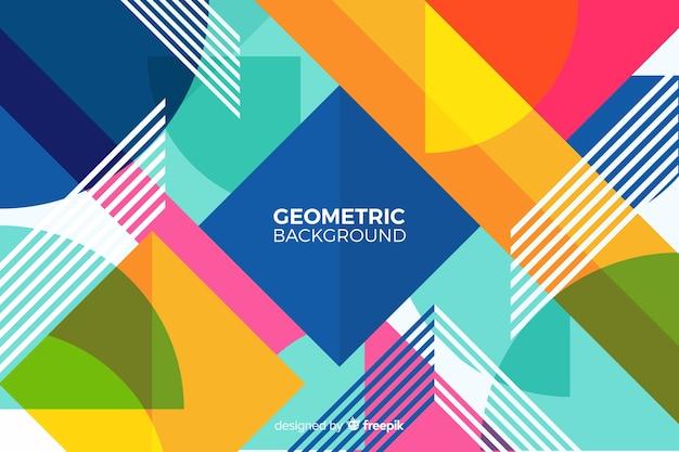 カラフルな幾何学的背景