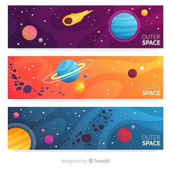 カラフルな宇宙バナー