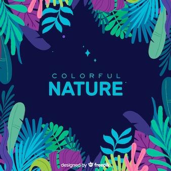 カラフルな熱帯の葉の背景