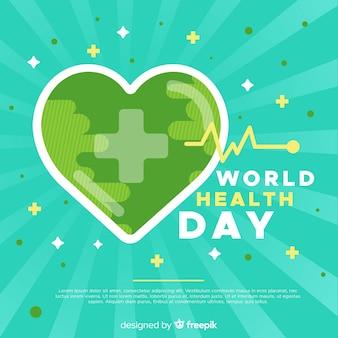 平らな世界健康日の背景