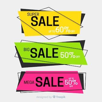 Геометрические баннеры продаж