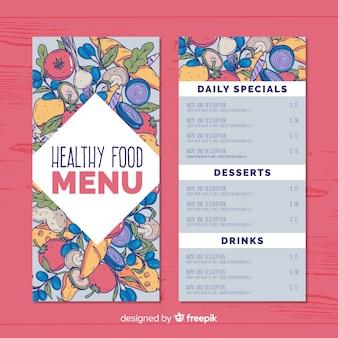 Ручной обращается еда здоровый шаблон меню