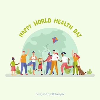 手描きの世界保健デーの背景