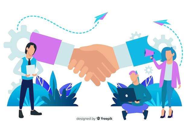 ビジネス取引の概念の背景