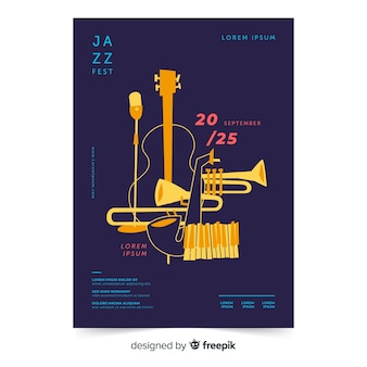 Шаблон плаката международного дня джаза