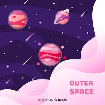 手描き銀河背景