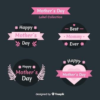 平らな母の日バッジコレクション