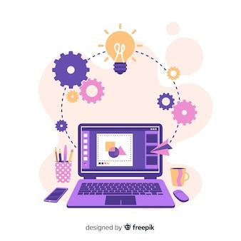 Концепция творческого процесса графического дизайна
