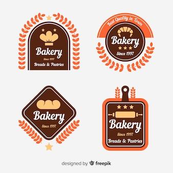 Плоская пекарня с логотипом