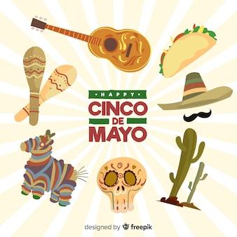 Коллекция элементов синко де майо