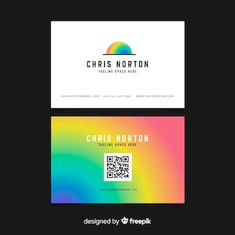 Красочный шаблон визитной карточки