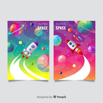 グラデーション宇宙空間カバーコレクション