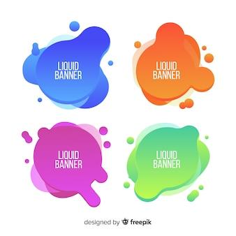 抽象的な液体バナー