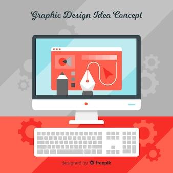 グラフィックデザインのアイデアコンセプト