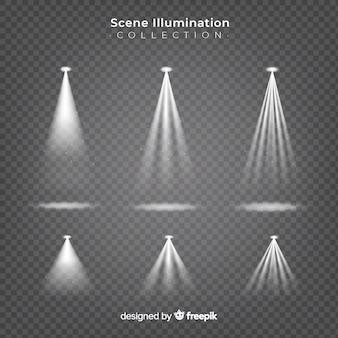 Коллекция прожекторов сцены