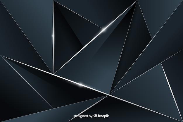 多角形の暗い背景