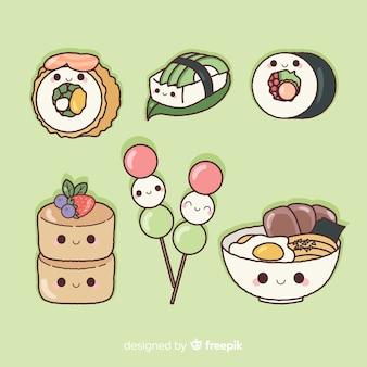 手描きの魅力的な寿司コレクション