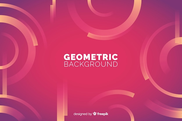 Геометрический фон с градиентами