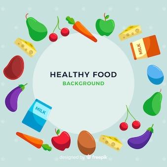 Красочный фон здоровой пищи