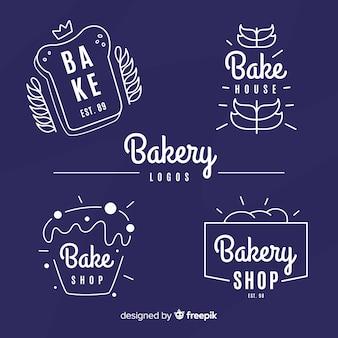 Простая коллекция хлебобулочных логотипов