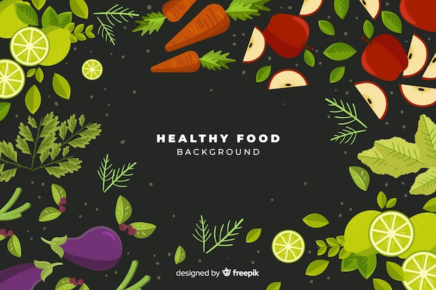 カラフルな健康食品の背景