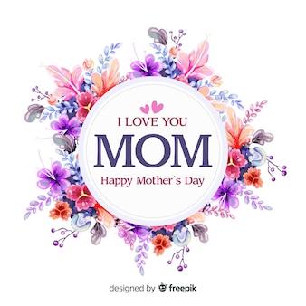 花の母の日の背景