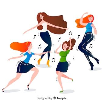 若い人たちのダンス