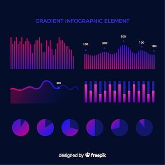 Неоновая коллекция элементов инфографики