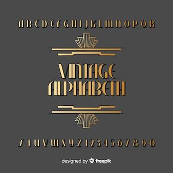 Винтажный алфавит