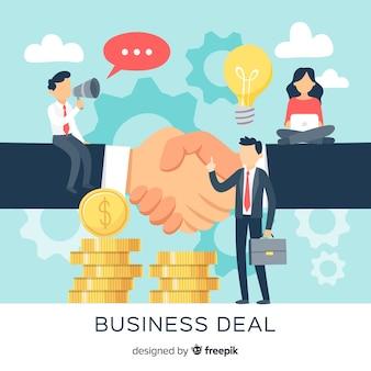 手描きのビジネス取引の概念