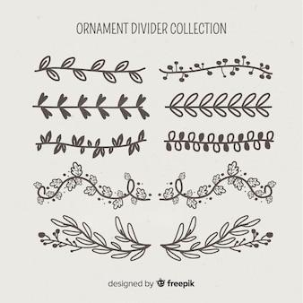 Коллекция разделителей орнаментов