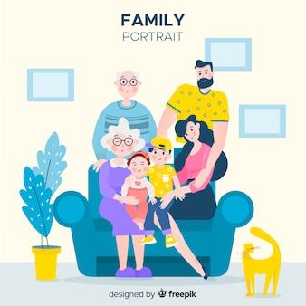 Ручной обращается семейный портрет