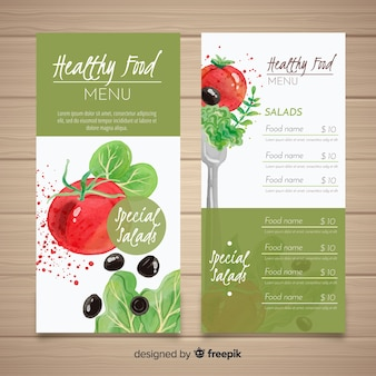 Шаблон меню из натуральных продуктов