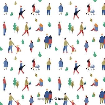 公園のパターンの人々